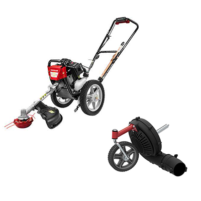 Wheeled String Trimmer With Blower Kit