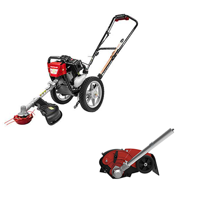 Wheeled String Trimmer With Edger Kit