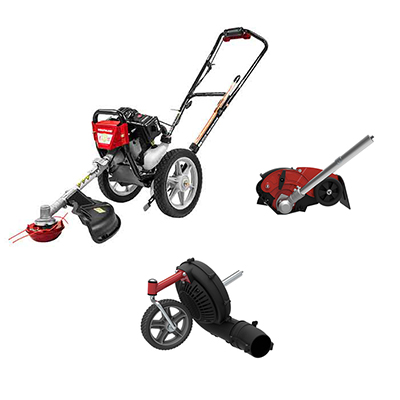 Wheeled String Trimmer With Edger And Blower Kit