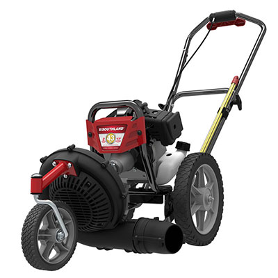 Wheeled String Trimmer Mower with Blower Attachment